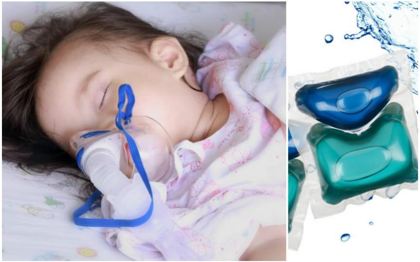 Capsulele de detergent lichid, extrem de periculoase pentru copii