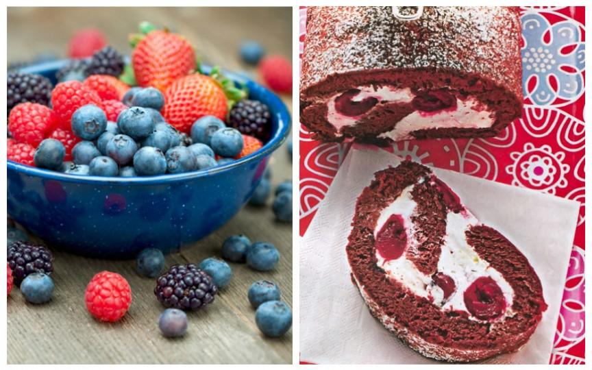 Rețeta unei rulade de cacao fără zahăr și cu cremă de fructe de pădure