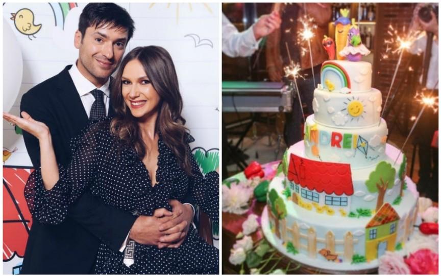 (FOTO) Adela Popescu şi Radu Vâlcan şi-au botezat al doilea copil