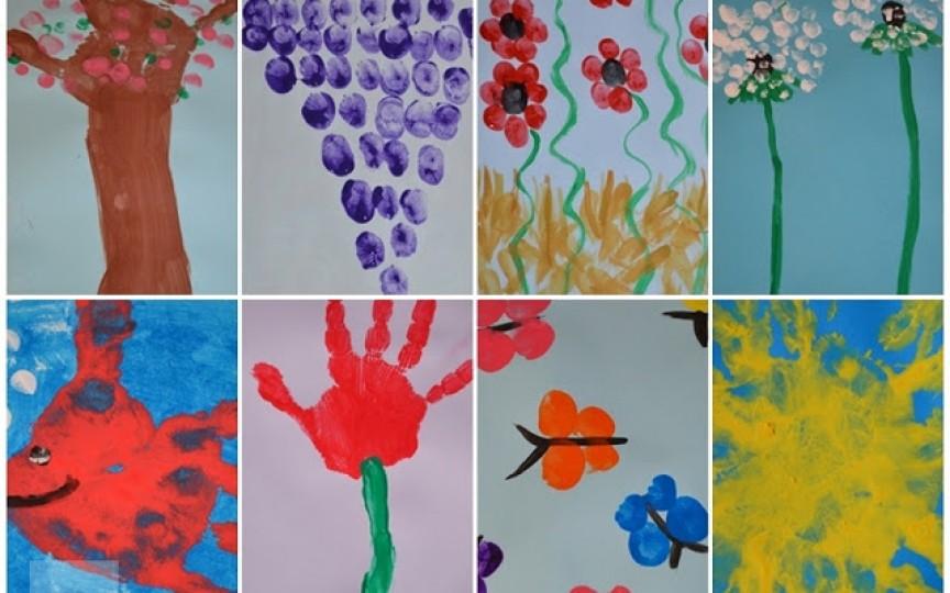 Pictura cu degetele vine să îți distreze copiii