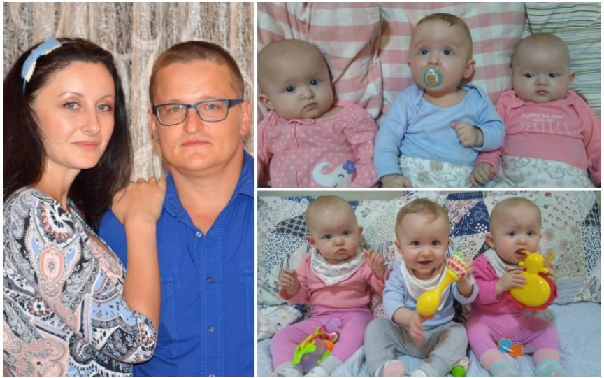 (VIDEO) Cheltuielile unei familii pentru a crește tripleți