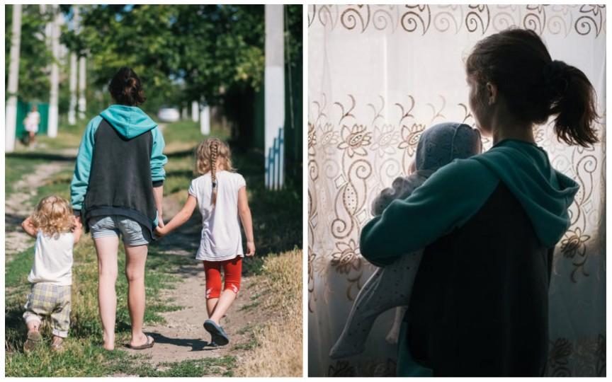 (FOTO) Istoria de viață a unei tinere moldovence: Trei copii la 22 de ani și trai la limita sărăciei