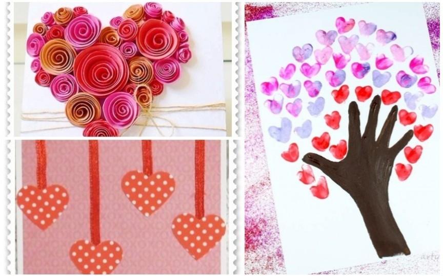 Felicitări handmade de Ziua Îndrăgostiților pe care le puteți face cu copiii