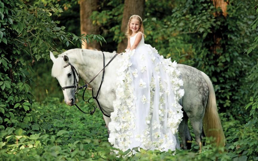 Polina Caraman, mica prinţesă a echitaţiei