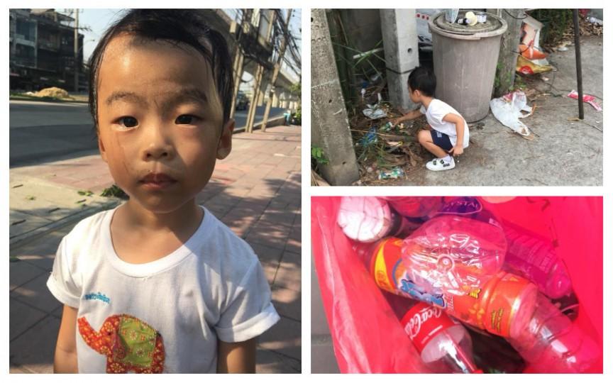 Mama care și-a pus fiul de 5 ani să adune gunoi pentru bani. E impresionant din ce cauză a acționat astfel!