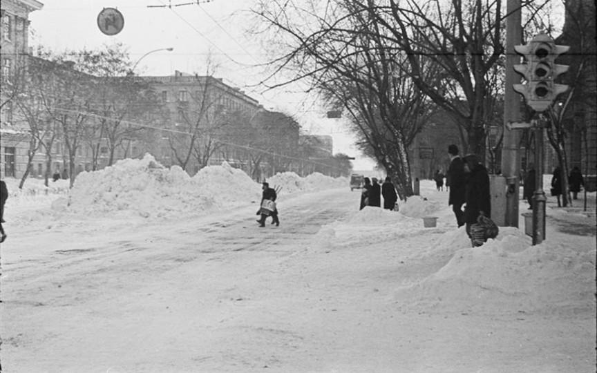 Iarna în Chișinău... cu exact 52 de ani în urmă