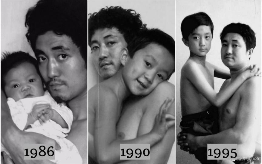 Un tată s-a fotografiat împreună cu fiul timp de 26 de ani. Ultima imagine nu te va lăsa indiferent!