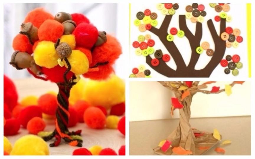 10 idei creative de confecționat copăcei colorați de toamnă