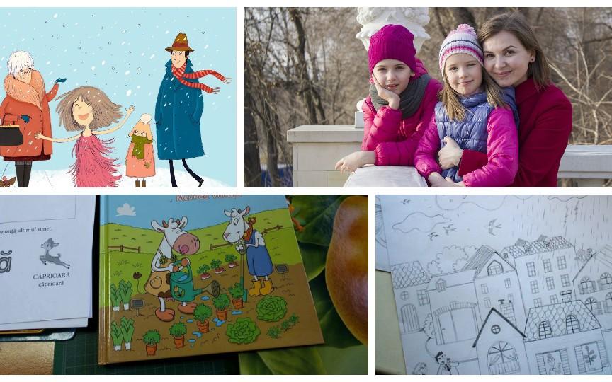 O zi din viața Stelei Damaschin-Popa, ilustratoarea care dă viaţă eroilor din cărțile pentru copii