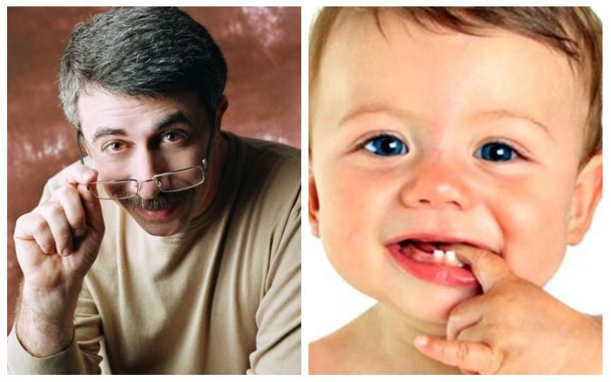Schema apariției dinților la copil și gelurile pentru dentiție. Recomandări de la pediatrul Komarovskii