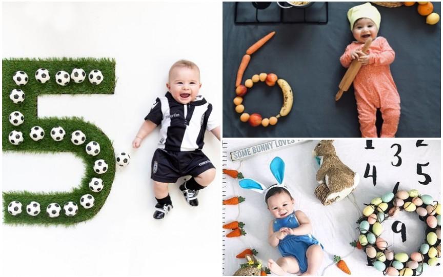 (FOTO) Sărbătorește-ți bebelușul în fiecare lună