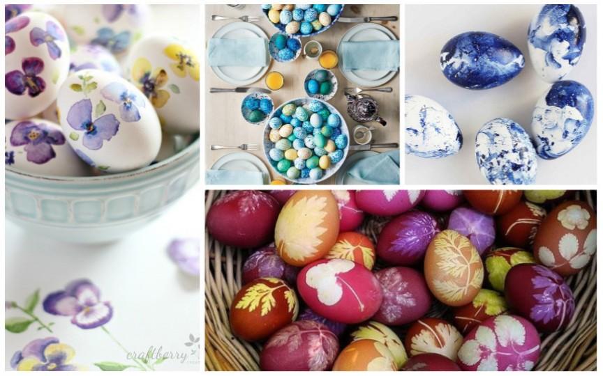 Idei creative și naturale pentru vopsirea ouălor de Paști
