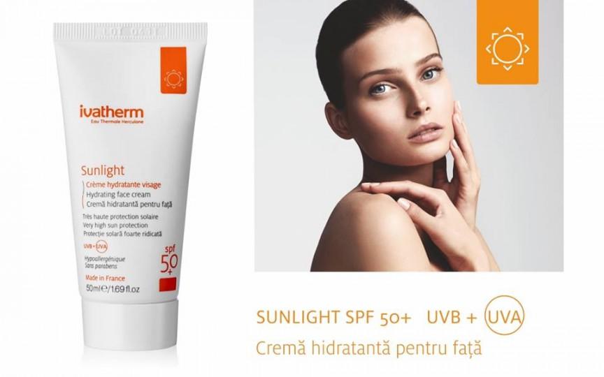 Crema SUNLIGHT SPF 50+ protejează eficient pielea împotriva razelor solare