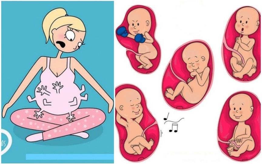 Mișcările bebelușului în sarcină