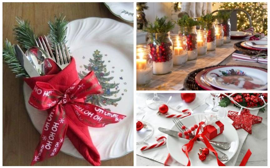 20 de idei pentru decorul mesei de Crăciun