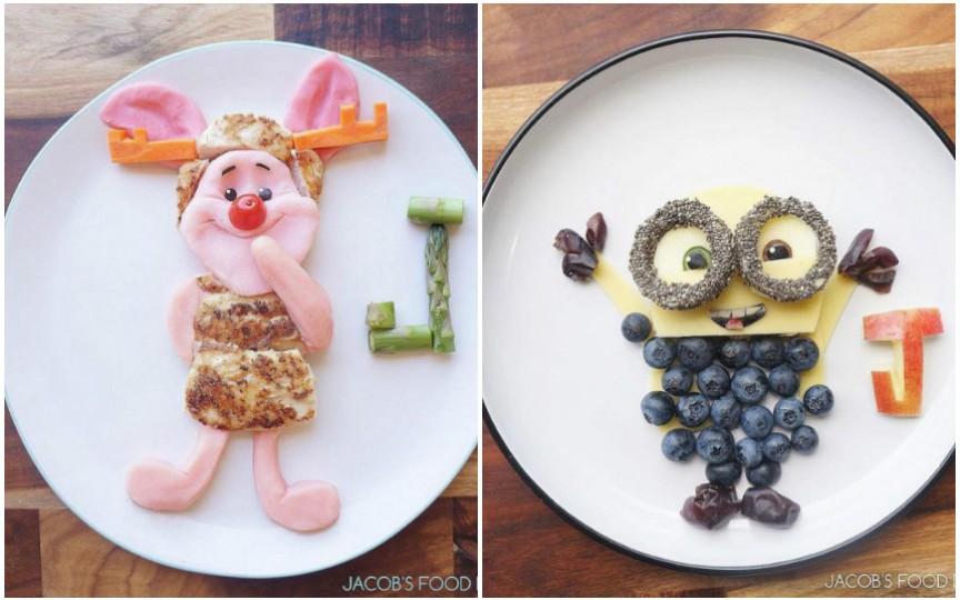 Meniuri creative pentru copii, inspirate din desenele animate