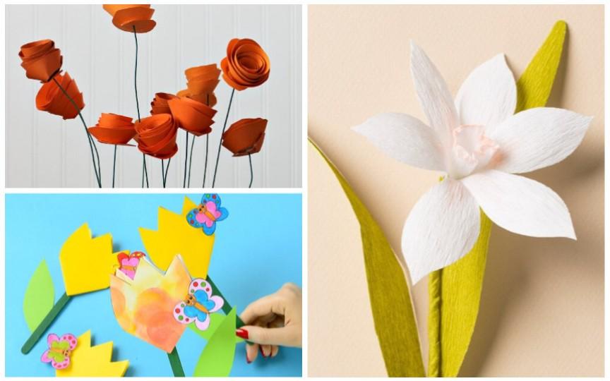 Confecționați împreună cu odorașii floricele din hârtie