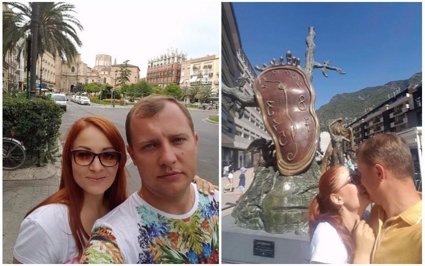 La 10 ani de la căsătorie, Aurel Chirtoacă și soția sa explorează Spania