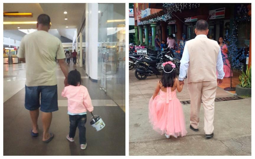 Își fotografiază în secret soțul și fiica, iar planul ei este înduioșător