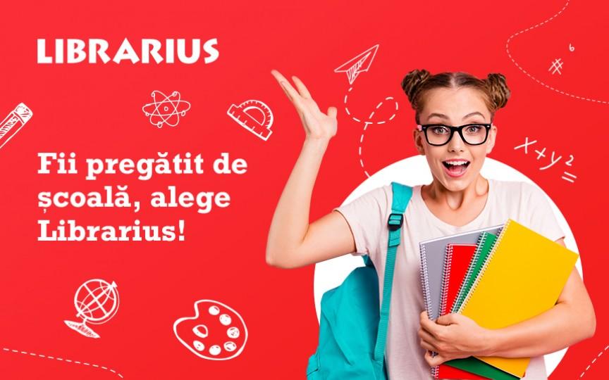 Fii pregătit de școală, alege Librarius!