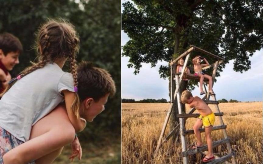 O mamă ne arată prin imagini cât de frumoasă este copilăria la sat