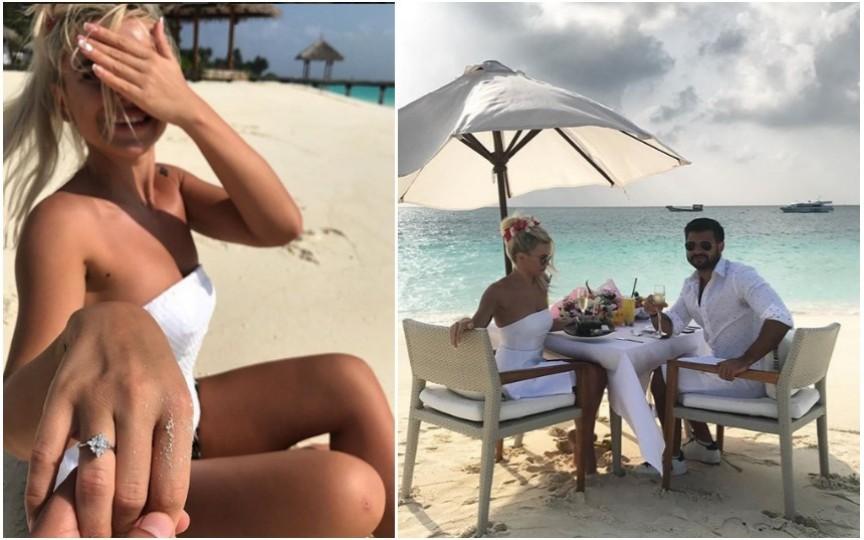 Daniela Burlac a fost cerută în căsătorie pe malul oceanului, chiar de ziua sa