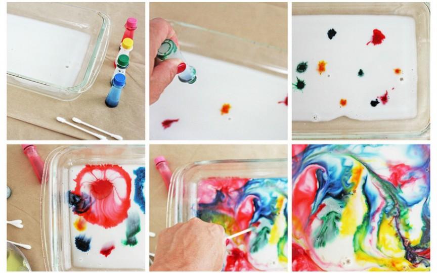 TUTORIAL: Cum să desenezi ceva spectaculos cu ajutorul laptelui
