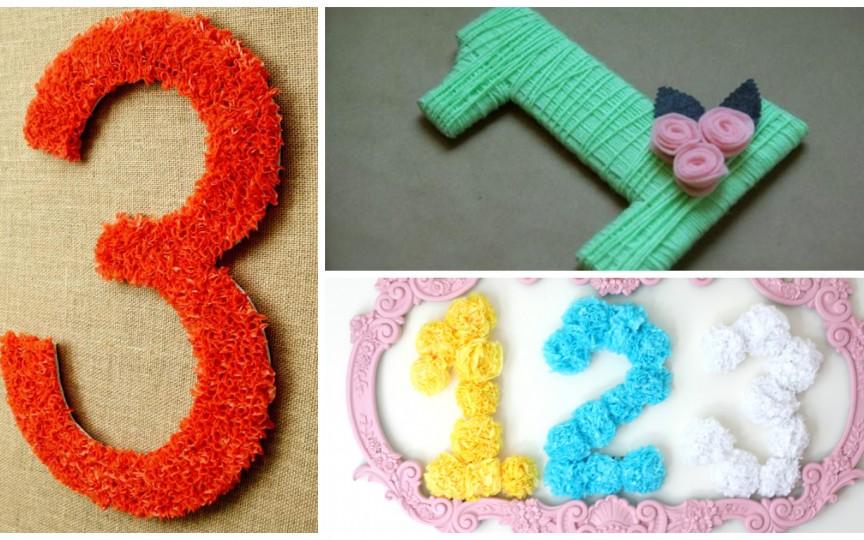 4 idei simple despre cum să meșterești o cifră aniversară