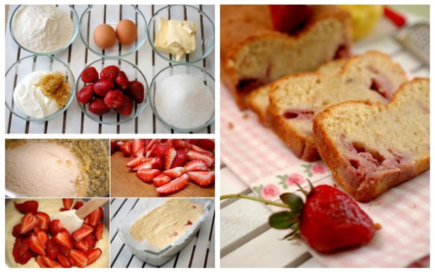Chec cu căpșuni: ușor de gătit și extrem de gustos