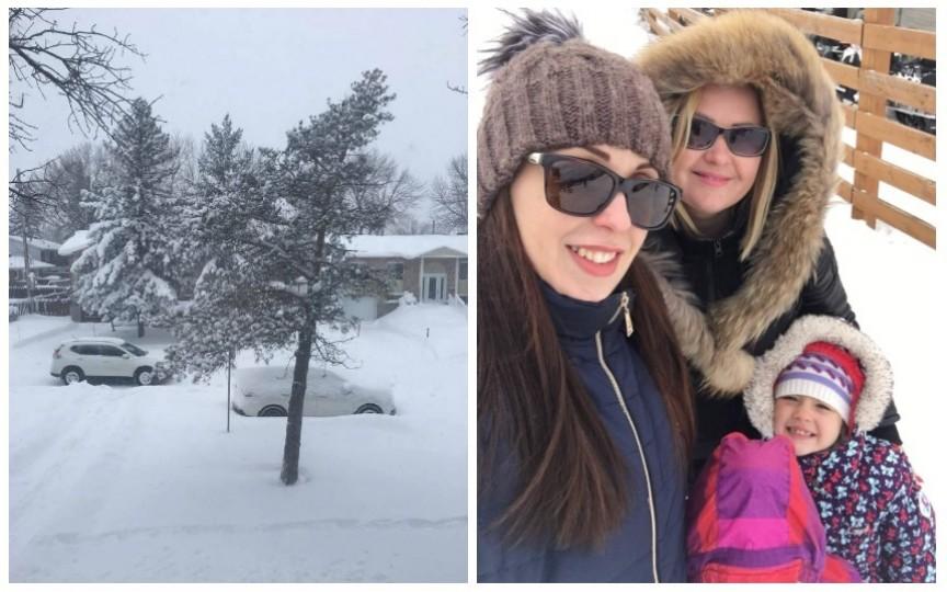 Istoria unei familii de moldoveni cum se descurcă iarnă în Canada