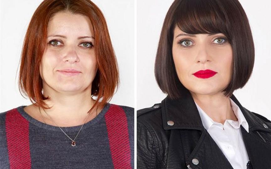 (FOTO) Un stilist demonstrează cum poate fi îmbunătățită impresionat înfățișarea cuiva cu niște schimbări simple