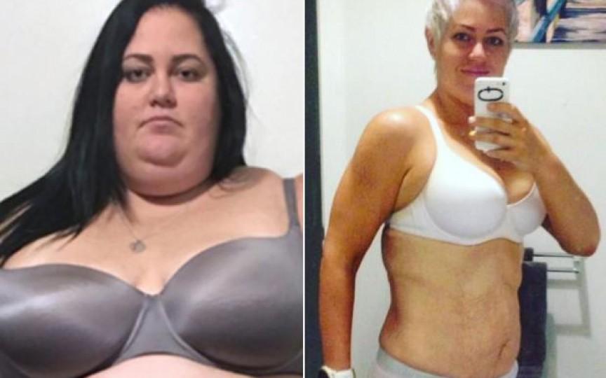 A slăbit 115 kilograme și iată cum arată tânăra ambițioasă acum