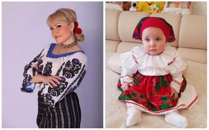 Adriana Ochișanu și-a afișat fetița în haine naționale. Vezi cât de adorabilă e micuța!
