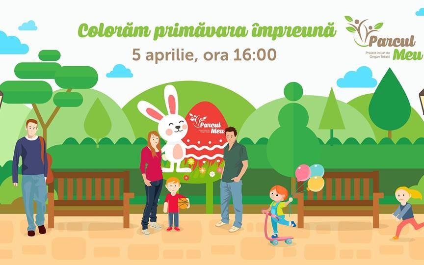 """Participă cu familia la evenimentul gratuit """"Colorăm primăvara împreună"""" în parcul Valea Trandafirilor"""