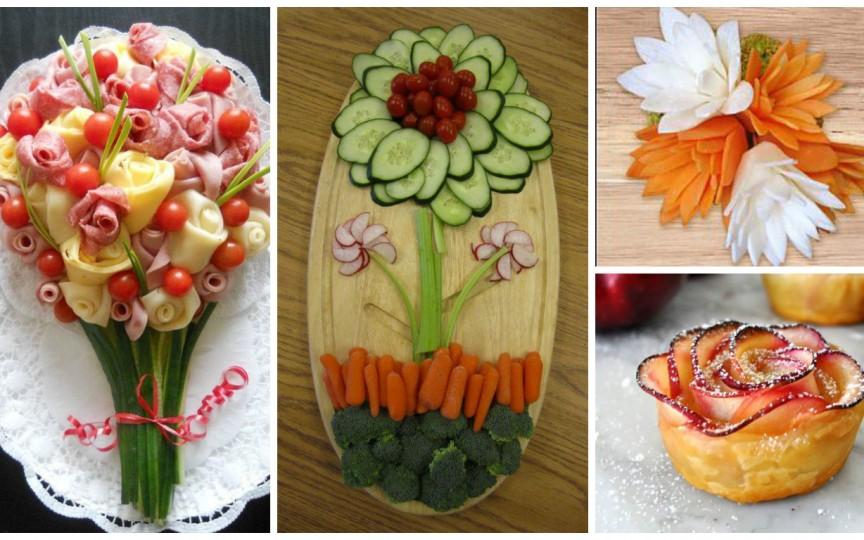 IDEI: Înfrumusețăm masa cu flori din fructe şi legume