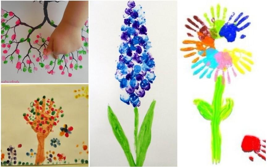 Activități adorate de copii: Pictează primăvara cu degețelele!
