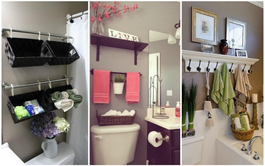 Idei creative de organizare a lucrurilor în baie