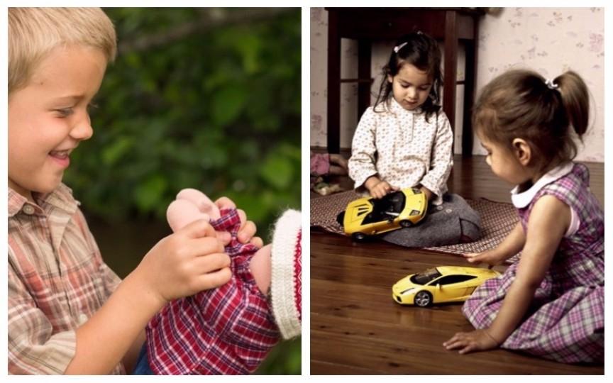 Jucăriile nu au gen: băieții se pot juca cu păpuși, iar fetele cu mașinuțe
