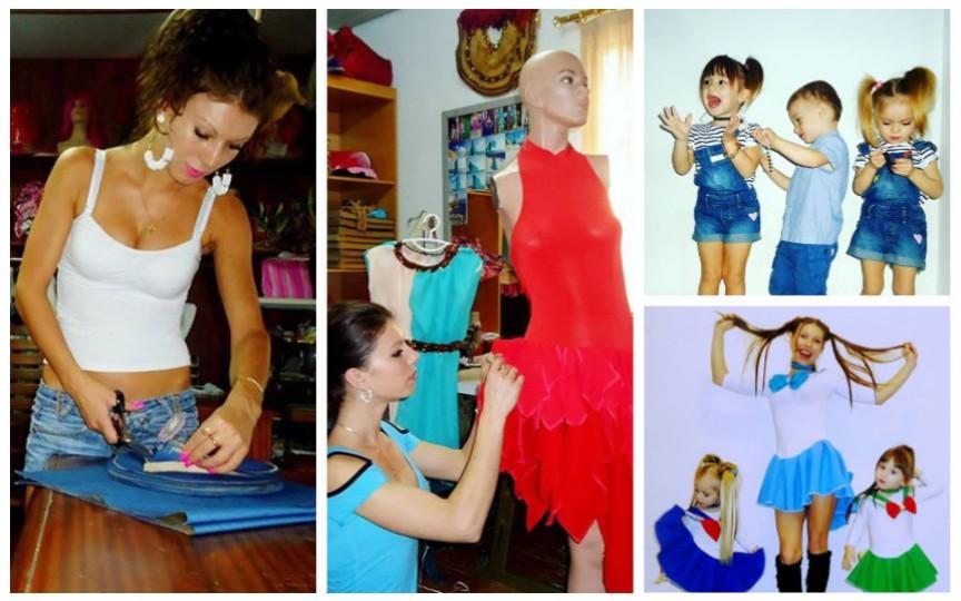 Moldoveanca mamă de tripleți, care locuiește în Cipru și are câștiguri frumoase datorită croitoriei