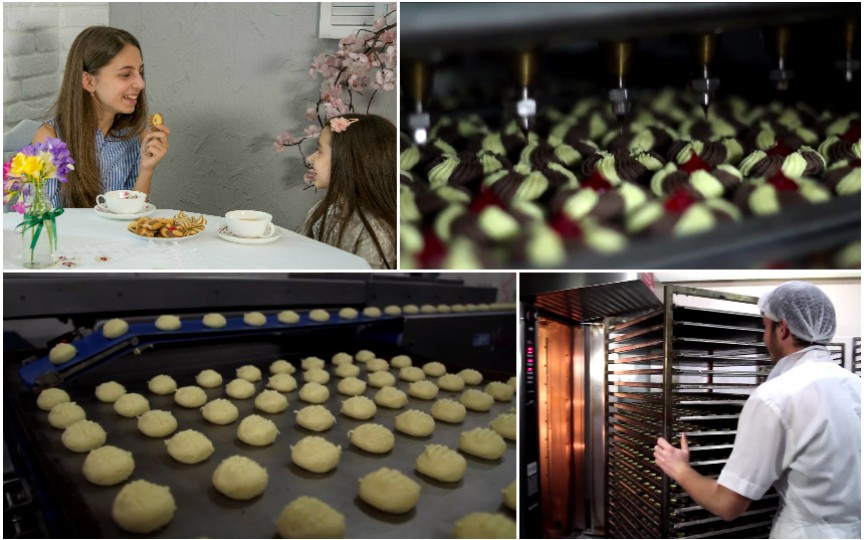 VIDEO: Iată cum se fac biscuiţii la o fabrică din Moldova