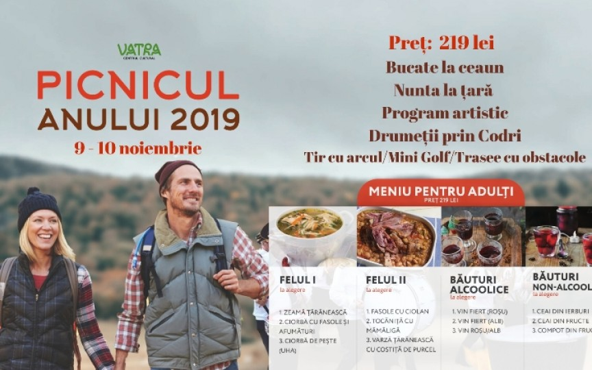 Vino împreună cu familia la cel mai tare PICNIC AL ANULUI. Rezervați bilete și transport
