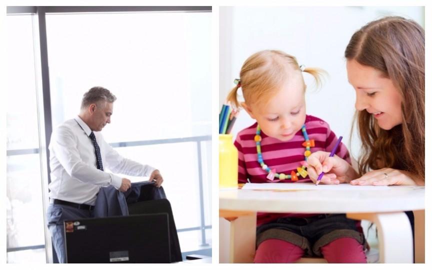 """9 diferențe între munca tatălui și """"jobul"""" de mamă"""