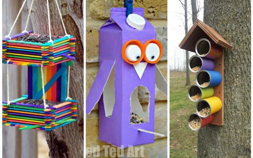 8 idei interesante de căsuțe pentru păsări, care pot fi făcute de copii