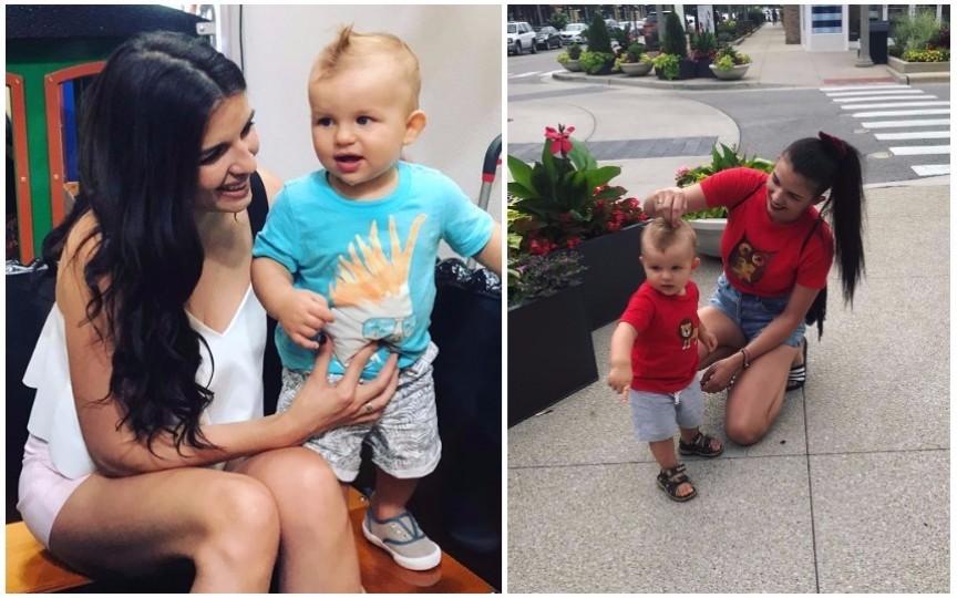 Cristina Croitoru a sărbătorit aniversarea sa și a fiului tocmai în America