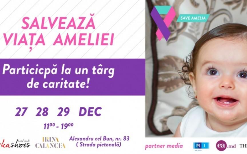 Participă și tu la târgul caritabil de Crăciun pentru a salva viața Ameliei, fetița cu cancer vaginal