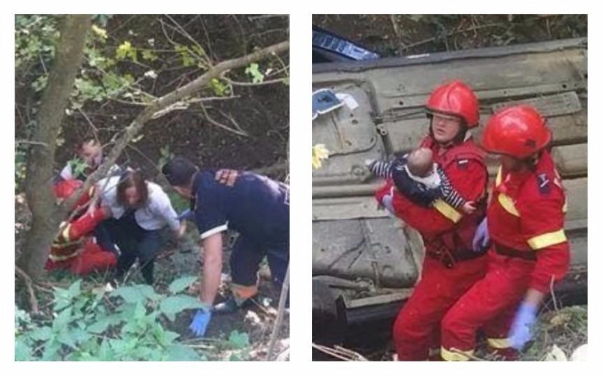 Doi copii au scăpat cu viață într-un accident teribil fiind cuplați corespunzător în automobil