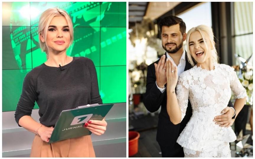 Jurnalista Daniela Ciocanu  și-a anunțat foarte interesant soțul că este însărcinată