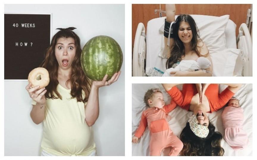 (FOTO) O graviduță creativă a transpus în imagini ce înseamnă să fii însărcinată