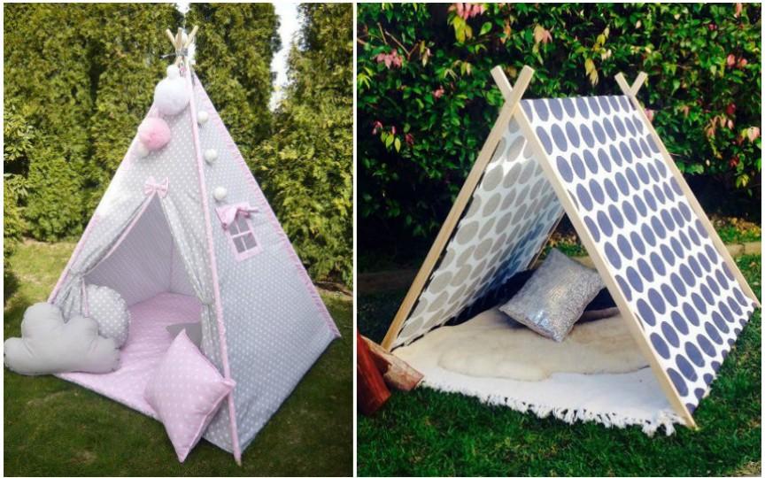 15 idei pentru a face un cort deosebit pentru copii afară