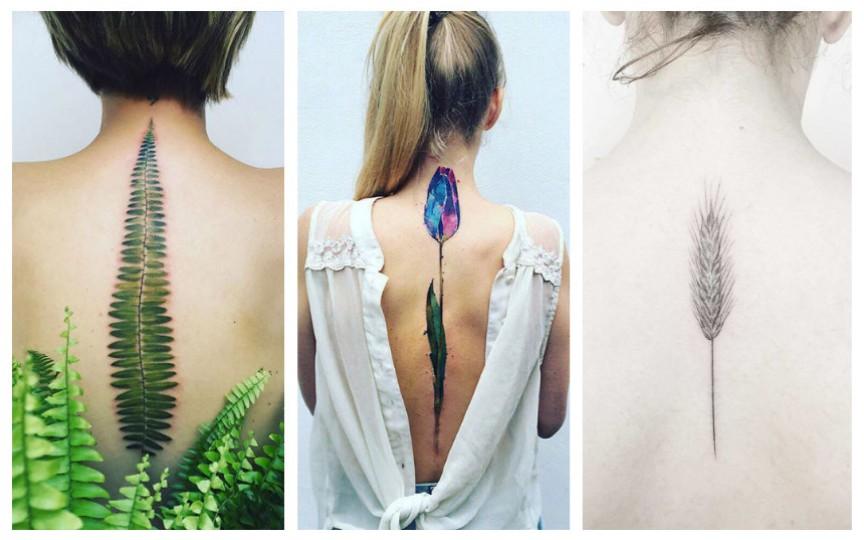 30+ de idei pentru femei care își doresc tatuaje fine și frumoase pe spate